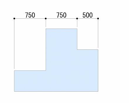 X方向の寸法記入