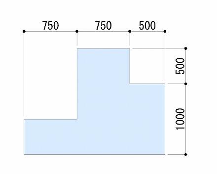 Y方向の寸法記入
